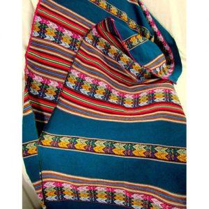 Handmade Wool Striped Blanket Vintage