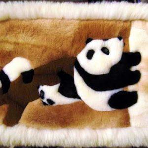 100% Baby Alpaca Fur Rug Panda bear