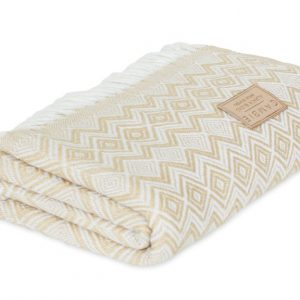 Beige and white blanket, throw Blanket Soft Silky and Luxurious Sweeney