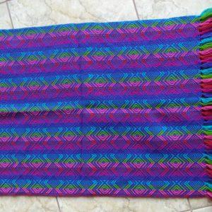 100% Alpaca woollen rainbow Baby Blanket
