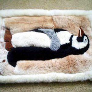 Alpaca rugs with penguin design