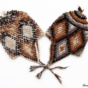Adjustable chullo alpaca wool hand woven