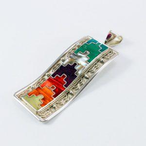 Colorful peruvian jewelry silver