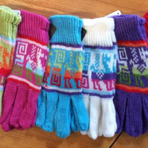 Bright Coloured Alpaca Gloves