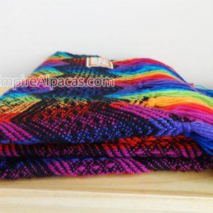 Alpaca Wool Multi Colored Shawl Soft Scarf