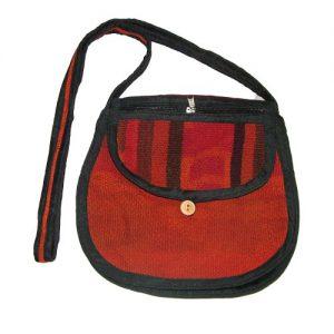 Fabric bag, Hand bag made of Textil, Shoulder bag, vintage style shoulder bag
