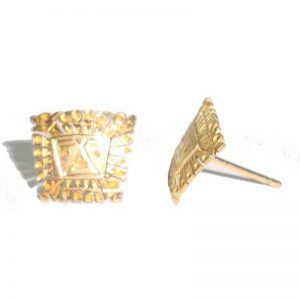 Earrings SUN gate in Gold 18k