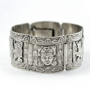 950 Silver Bracelet with Inca Design