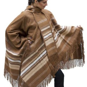 Alpaca poncho for men and women