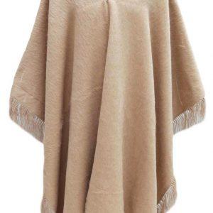 Fringed Poncho Alpaca Wool Winter