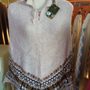Wool Alpaca poncho vintage cape all colors