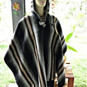 Poncho unisex 100% of Alpaca Peruvian