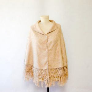 Alpaca Wool Poncho women