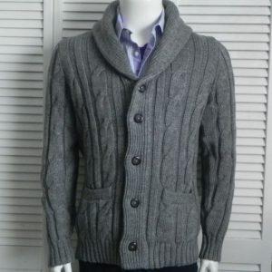 Mens sweater Elegant Knit Shawl Collar