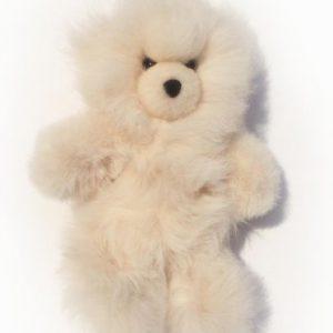 Baby Alpaca Fur Teddy Bear Hand Made 10 Inch