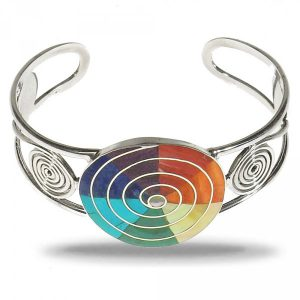 Silver Unique Pachamama bracelet colours