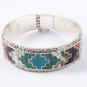 Chakana bracelet silver peruvian
