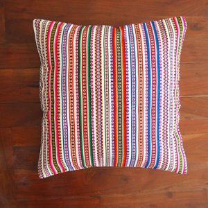 Cushion white multicolor