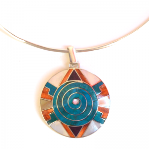 Hanging spiral shield protector of silver