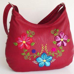Embroidered shoulder bag peruvian