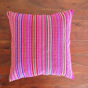 Multicolor pink cushion