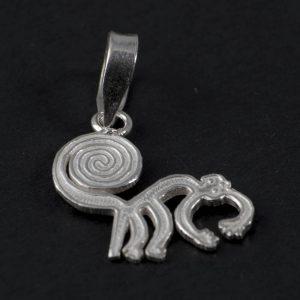 Silver pendant monkey